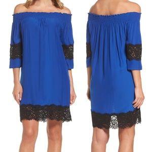 Felicity & Coco Off Shoulder Shift Dress Size PS